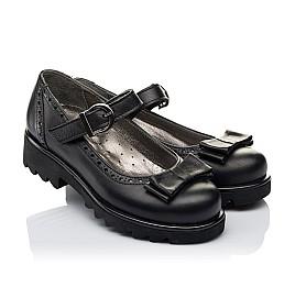 Детские туфли (застежка липучка) Woopy Orthopedic черные для девочек натуральная кожа размер 29-29 (3538) Фото 1
