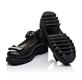 Детские туфли (застежка липучка) Woopy Orthopedic черные для девочек натуральная кожа размер 29-29 (3538) Фото 2