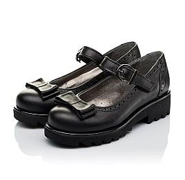 Детские туфли (застежка липучка) Woopy Orthopedic черные для девочек натуральная кожа размер 29-29 (3538) Фото 3