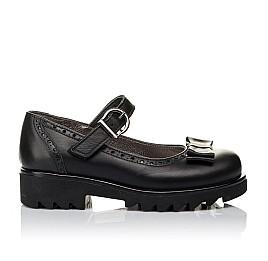 Детские туфли (застежка липучка) Woopy Orthopedic черные для девочек натуральная кожа размер 29-29 (3538) Фото 4