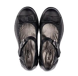 Детские туфли (застежка липучка) Woopy Orthopedic черные для девочек натуральная кожа размер 29-29 (3538) Фото 5