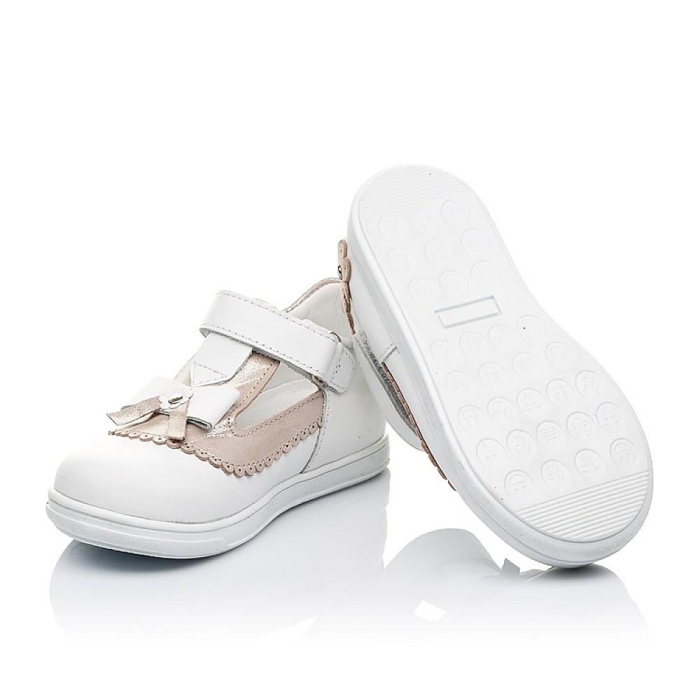 Детские туфлі Woopy Orthopedic білі, золоті для девочек натуральна шкіра размер 18-25 (3540) Фото 2