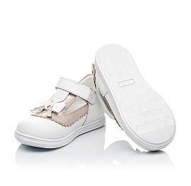 Детские туфли Woopy Orthopedic белые, золотые для девочек натуральная кожа размер 18-24 (3540) Фото 2