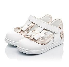 Детские туфли Woopy Orthopedic белые, золотые для девочек натуральная кожа размер 18-24 (3540) Фото 3