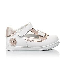 Детские туфли Woopy Orthopedic белые, золотые для девочек натуральная кожа размер 18-24 (3540) Фото 4