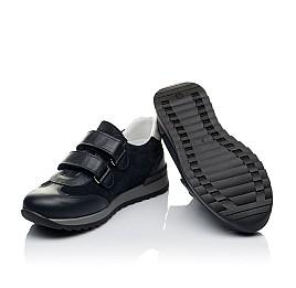 Детские кроссовки Woopy Orthopedic темно-синие для мальчиков натуральная кожа и замша размер 31-38 (3542) Фото 2