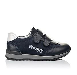 Детские кроссовки Woopy Orthopedic темно-синие для мальчиков натуральная кожа и замша размер 31-38 (3542) Фото 4