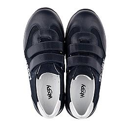 Детские кроссовки Woopy Orthopedic темно-синие для мальчиков натуральная кожа и замша размер 31-38 (3542) Фото 5