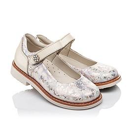 Детские туфли ортопедические Woopy Orthopedic бежевые для девочек натуральная кожа и нубук размер 21-29 (3543) Фото 1