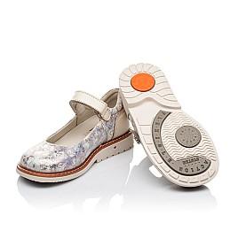 Детские туфли ортопедические Woopy Orthopedic бежевые для девочек натуральная кожа и нубук размер 21-29 (3543) Фото 2