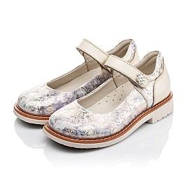 Детские туфли ортопедические Woopy Orthopedic бежевые для девочек натуральная кожа и нубук размер 21-29 (3543) Фото 3