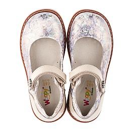 Детские туфли ортопедические Woopy Orthopedic бежевые для девочек натуральная кожа и нубук размер 21-29 (3543) Фото 5