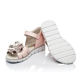 Детские ортопедические босоножки Woopy Orthopedic розовые для девочек натуральная кожа размер - (3544) Фото 2