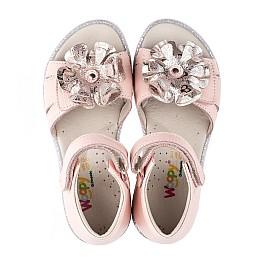Детские ортопедические босоножки Woopy Orthopedic розовые для девочек натуральная кожа размер - (3544) Фото 5