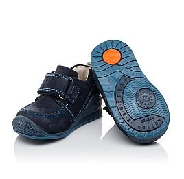 Детские мокасини Woopy Orthopedic темно-синие для мальчиков натуральный нубук размер 18-18 (3545) Фото 2
