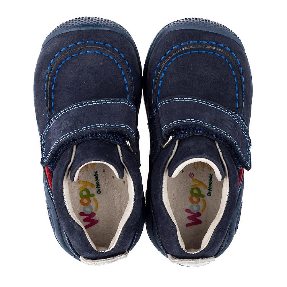 Детские мокасины Woopy Orthopedic темно-синие для мальчиков натуральный нубук размер 18-21 (3545) Фото 5