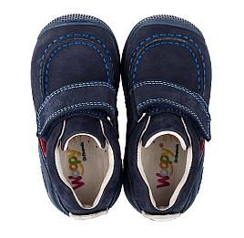 Детские мокасини Woopy Orthopedic темно-синие для мальчиков натуральный нубук размер 18-18 (3545) Фото 5