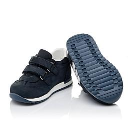Детские кроссовки Woopy Orthopedic синие для мальчиков натуральный нубук и кожа размер 18-30 (3547) Фото 2