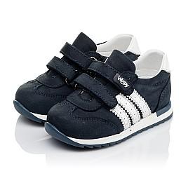 Детские кроссовки Woopy Orthopedic синие для мальчиков натуральный нубук и кожа размер 18-30 (3547) Фото 3