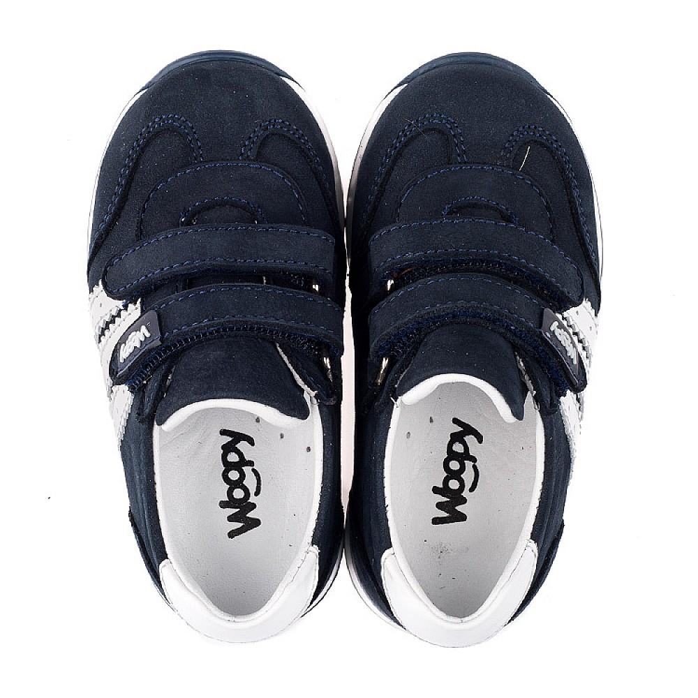 Детские кроссовки Woopy Orthopedic синие для мальчиков натуральный нубук и кожа размер 18-30 (3547) Фото 5