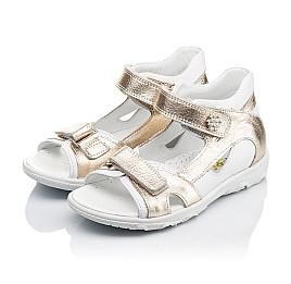 Детские босоножки Woopy Orthopedic золотые,белые для девочек натуральная кожа размер 21-26 (3548) Фото 3