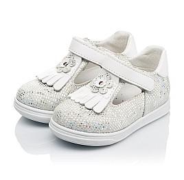 Детские туфли Woopy Orthopedic белые, серебро для девочек натуральная кожа размер 18-22 (3551) Фото 3