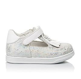 Детские туфли Woopy Orthopedic белые, серебро для девочек натуральная кожа размер 18-23 (3551) Фото 4