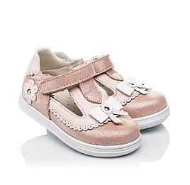 Детские туфли Woopy Orthopedic розовые для девочек натуральная кожа размер 18-21 (3552) Фото 1