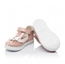 Детские туфлі Woopy Orthopedic розовые для девочек натуральная кожа размер 18-21 (3552) Фото 2