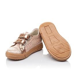 Детские кеды Woopy Orthopedic золотые,бежевые для девочек натуральная кожа размер 18-18 (3554) Фото 2