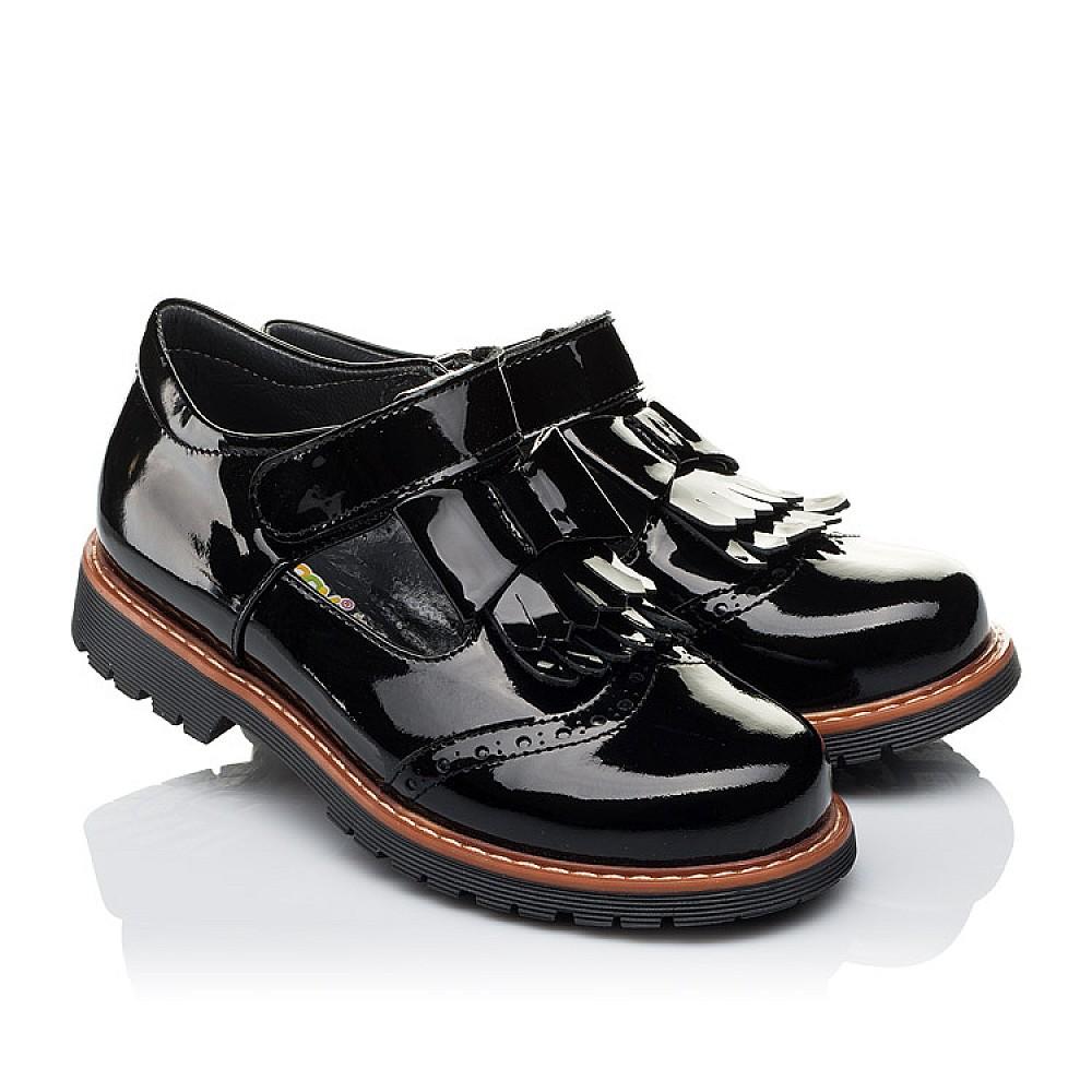 Детские туфли Woopy Orthopedic черные для девочек натуральная лаковая кожа размер 29-40 (3555) Фото 1