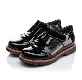 Детские туфли Woopy Orthopedic черные для девочек натуральная лаковая кожа размер 34-38 (3555) Фото 3