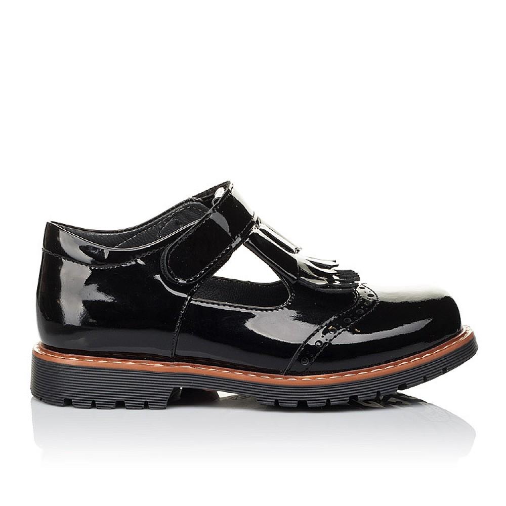 Детские туфли Woopy Orthopedic черные для девочек натуральная лаковая кожа размер 29-40 (3555) Фото 4