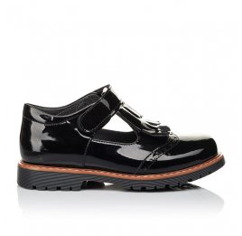 Детские туфли Woopy Orthopedic черные для девочек натуральная лаковая кожа размер 34-38 (3555) Фото 4