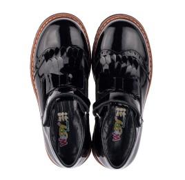 Детские туфли Woopy Orthopedic черные для девочек натуральная лаковая кожа размер 34-38 (3555) Фото 5
