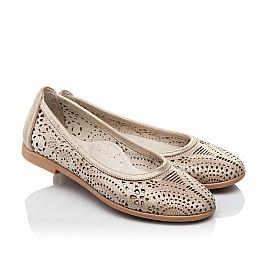 Детские туфли Woopy Orthopedic бежевые для девочек натуральная кожа размер 31-32 (3556) Фото 1