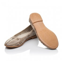 Детские туфли Woopy Orthopedic бежевые для девочек натуральная кожа размер 31-32 (3556) Фото 2