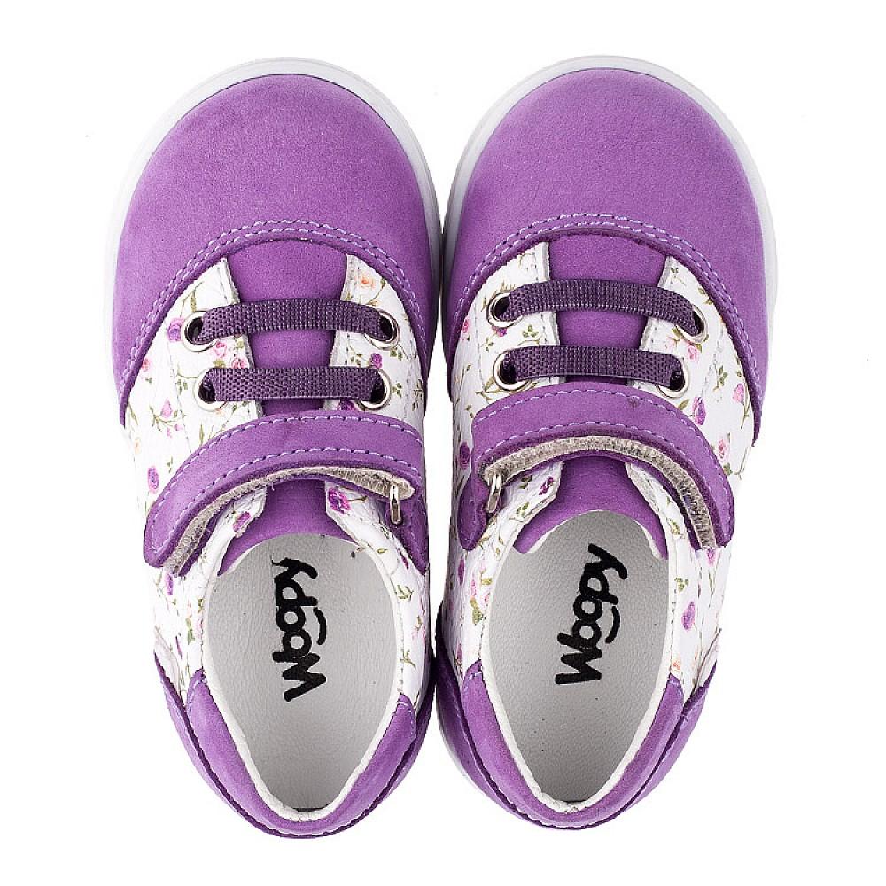 Детские кроссовки Woopy Orthopedic сиреневые для девочек натуральный нубук и кожа размер 18-25 (3557) Фото 5