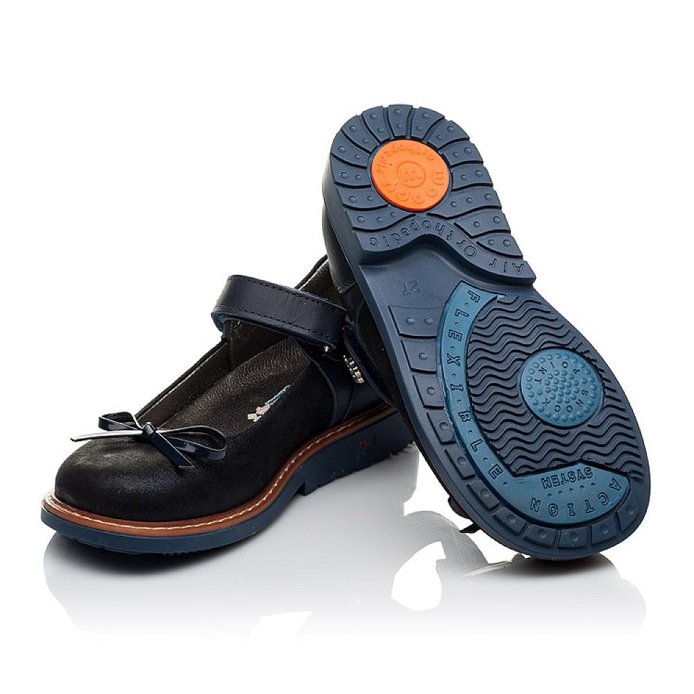 Детские туфли ортопедические Woopy Orthopedic темно-синие для девочек натуральная кожа размер 26-35 (3558) Фото 2