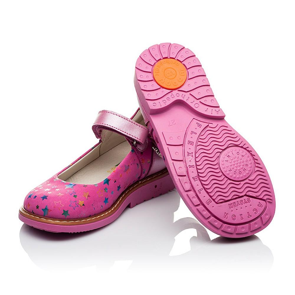 Детские туфли ортопедические Woopy Orthopedic розовые для девочек натуральная кожа и нубук размер 21-33 (3559) Фото 2