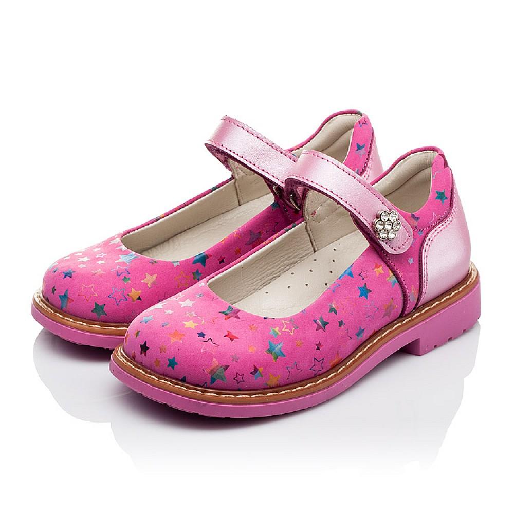 Детские туфли ортопедические Woopy Orthopedic розовые для девочек натуральная кожа и нубук размер 21-33 (3559) Фото 3