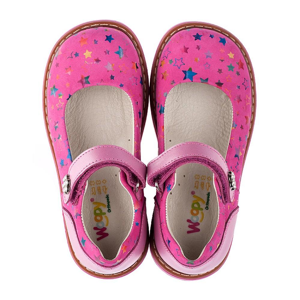 Детские туфли ортопедические Woopy Orthopedic розовые для девочек натуральная кожа и нубук размер 21-33 (3559) Фото 5