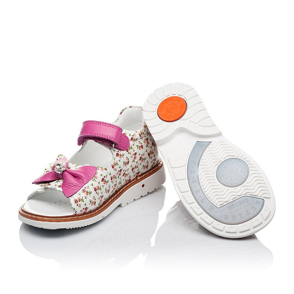 Детские ортопедические босоножки Woopy Orthopedic разноцветные, розовые для девочек лаковая натуральная кожа размер 21-30 (3564) Фото 2
