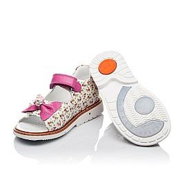 Детские ортопедические босоножки Woopy Orthopedic разноцветные, розовые для девочек лаковая натуральная кожа размер - (3564) Фото 2