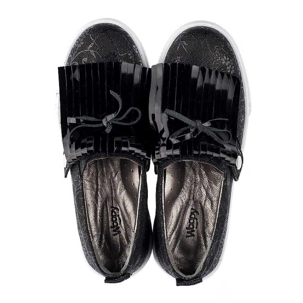 Детские слипоны Woopy Orthopedic черные для девочек натуральная кожа размер 33-38 (3565) Фото 5