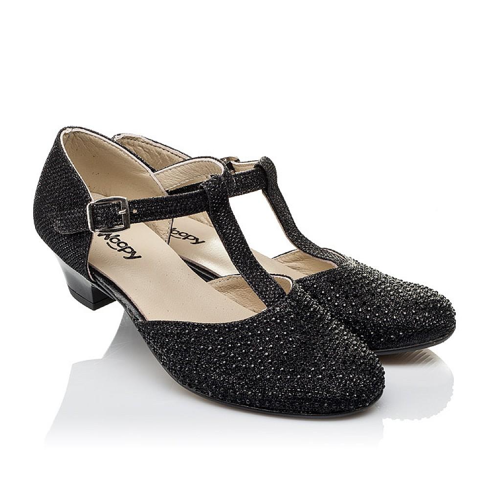 Детские туфли Woopy Orthopedic черные для девочек современный искусственный материал размер 27-37 (3567) Фото 1