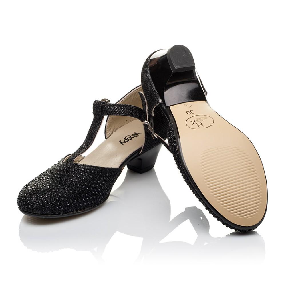 Детские туфли Woopy Orthopedic черные для девочек современный искусственный материал размер 27-37 (3567) Фото 2