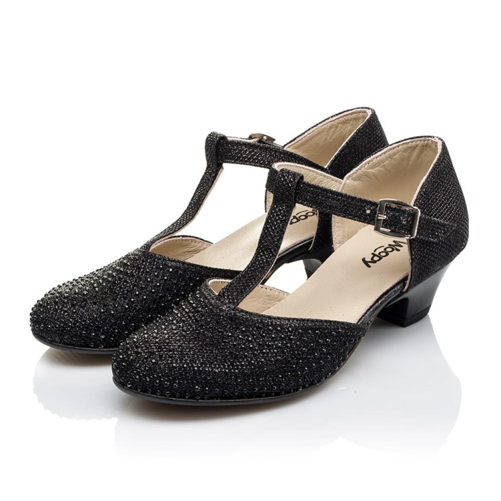 Детские туфли Woopy Orthopedic черные для девочек современный искусственный материал размер 27-37 (3567) Фото 3