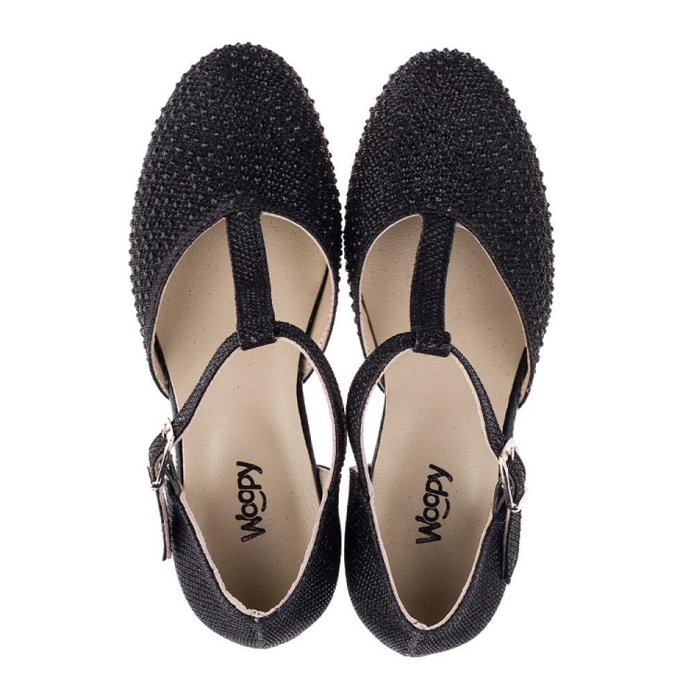 Детские туфли Woopy Orthopedic черные для девочек современный искусственный материал размер 27-37 (3567) Фото 5