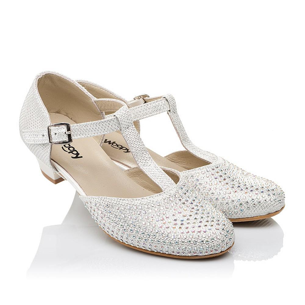 Детские туфли Woopy Orthopedic серебряные для девочек современный искусственный материал размер 27-37 (3568) Фото 1